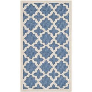 Safavieh Versatile Indoor/ Outdoor Courtyard Blue/ Beige Rug (2'7 x 5')