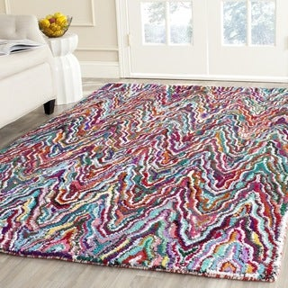 Safavieh Handmade Nantucket Multicolored Cotton Rug (5' x 7'6)