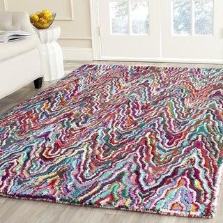 Safavieh Handmade Nantucket Multicolored Cotton Rug (7'6 x 9'6)