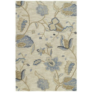 Copia Sand Floral 9x12 Polyester Rug