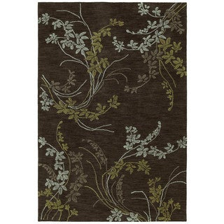 Copia Chocoloate Vines 8x10 Polyester Rug
