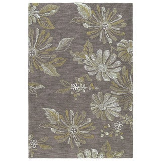 Copia Light Brown 9x12 Polyester Rug