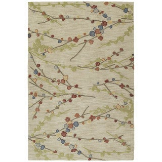 Copia Sand Blossom 8x10 Polyester Rug