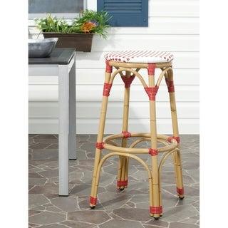 Safavieh Kipnuk Red/ White Indoor Outdoor Stool