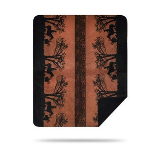 Denali Black and Brown Sunset Cowboys Throw Blanket