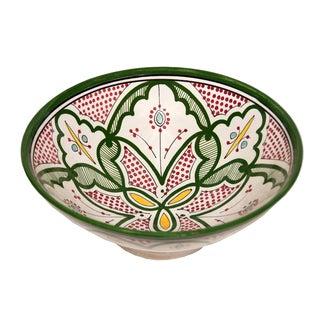 Moroccan Verde Ceramic Bowl (Morocco)