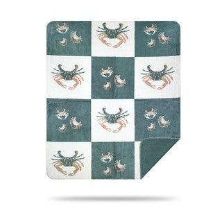 Denali Light Marine Crabs Throw