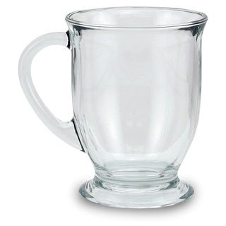 Clear 16 Ounces Glass Mugs (Set of 4)