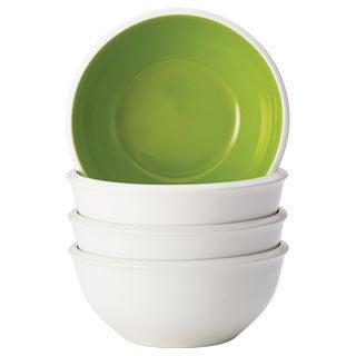 Rachael Ray Dinnerware Rise 4-piece Stoneware Cereal Bowl Set, Green