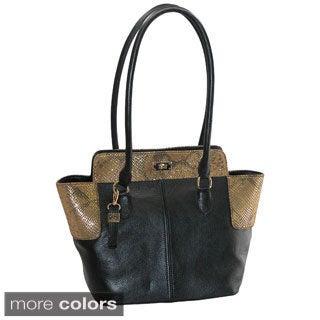 Buxton Alexandria Leather Tote