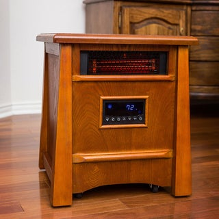 Lifesmart Ultimate All Wood 8 Element 1800-Square-Foot Infrared Heater with Deluxe Air Ionizer System