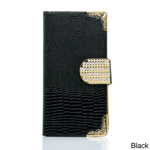 Gearonic Rhinestone Wallet PU Leather Magnetic Flip Case for iPhone 5C