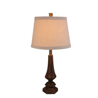 Fangio Lighting's 26-inch Resin Table Lamp with Antique Gold Finish