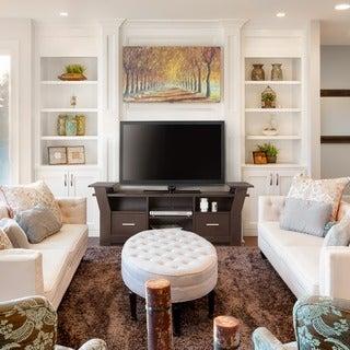 Furniture of America Skyler Contemporary 64-inch White/ Cappuccino 2-drawer TV Console