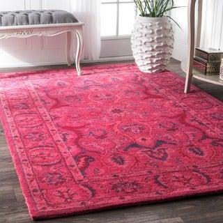 nuLOOM Handmade Persian Overdyed Wool Rug (5' x 8')