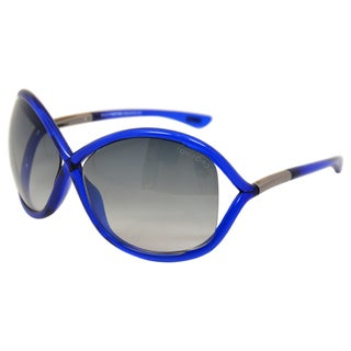 Tom Ford Women's 'FT0009/S Whitney 90B' Shiny Blue Sunglasses