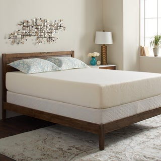Select Luxury Gel Memory Foam 12-inch King-size Medium Firm Mattress Set with EZ Fit Foundation