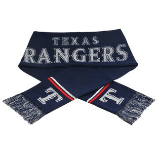 Forever Collectibles MLB Texas Rangers Woven Metallic Scarf