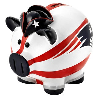 Forever Collectibles NFL New England Patriots Thematic Resin Piggy Bank