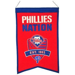 MLB Philadelphia Phillies Wool Nations Banner