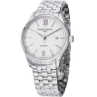 Frederique Constant Men's FC-303WN5B6B 'Index' Silver Dial Stainless Steel Watch