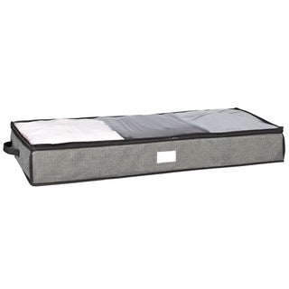 Kennedy Home Collection Grey 40-inch UnderBed Storage Bag