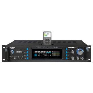 PylePro P2002ABTI 2000 Watts Hybrid Receiver & Pre-Amplifier W/AM-FM Tuner/Ipod Docking Station & Bluetooth (Refurbished)