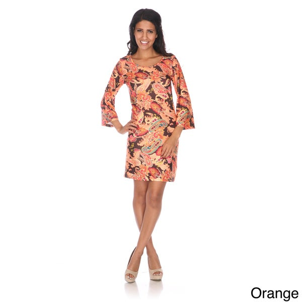 Women's 'Paisley Heaven' Bell Sleeve Mini Dress