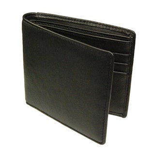 Castello Black Nappa Leather Billfold Wallet