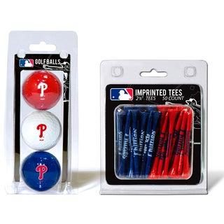 MLB Philadelphia Phillies Golf Ball and Tee Set