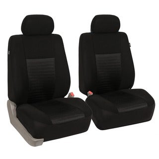FH Group Black 'Trendy Elegance' Airbag Compatible Front Bucket Covers (Set of 2)