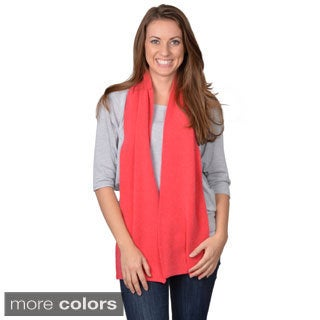 Portolano Women's Solid-Color Cashmere-Knit Scarf