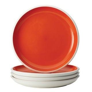 Rachael Ray Dinnerware 'Rise' Orange 4-piece Stoneware Dinner Plate Set