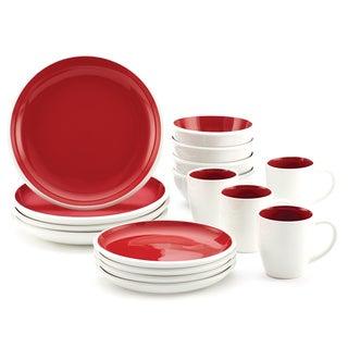 Rachael Ray Red 'Rise Stoneware' 16-piece Dinnerware Set