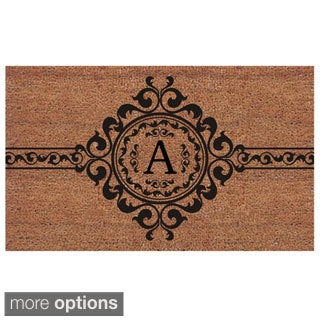 Garbo Extra-thick Monogrammed Doormat (1'6 x 2'6)