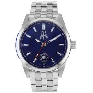 Jivago Men's Rush Stainless Steel Blue Dial Quartz Watch