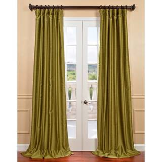 Chartreuse Yarn Dyed Faux Dupioni Silk Curtain Panel