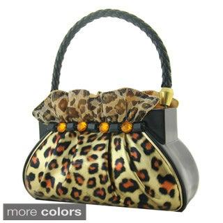Jacki Design Metallic Leopard Handbag Brush Holder