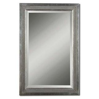 Uttermost Triple Beaded Silver Leaf Vanity Mirror