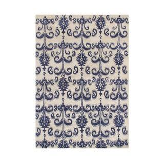 Alliyah Handmade Cream Wool Rug (8' x 10')