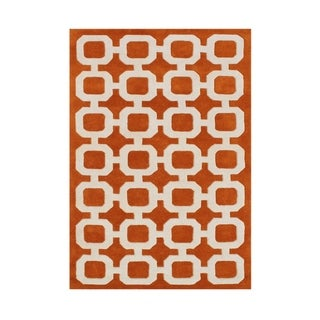 Alliyah Handmade Coral Rose Wool Rug (8' x 10')