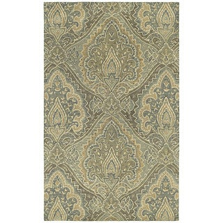 St. Joseph Sage Damask Hand-tufted Wool Rug (9'6 x 13')