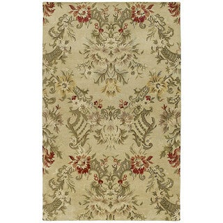 St. Joseph Sand Floral Hand-tufted Wool Rug (8' x 10')