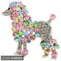 Multicolor Poodle Pin Animal Pin Brooch