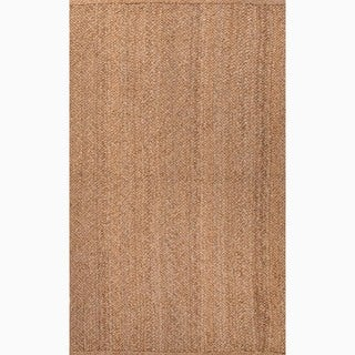 Handmade Taupe/ Tan Jute Natural Rug (9 x 12)