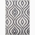 Handmade Gray/ Ivory Art Silk/ Chenille Modern Rug (2 x 3)