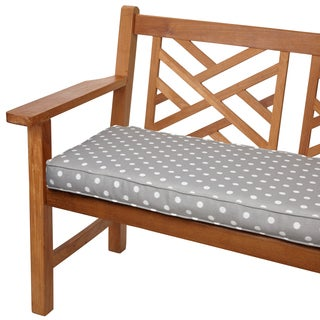 Grey Dots 48 inch Indoor Outdoor Corded Bench Cushion