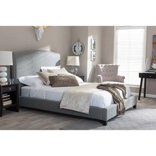 Aisling Gray Fabric Platform Bed