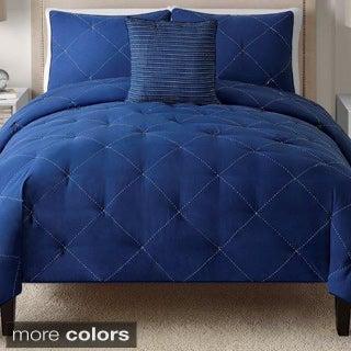 Charlotte Embroidered 4-piece Comforter Set
