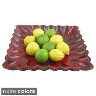 Scalloped Mango Wood Plate (Thailand)